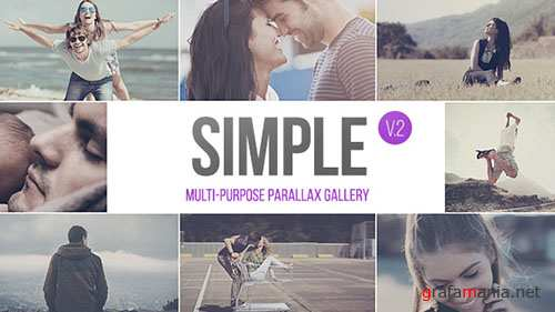 SIMPLE v.2 - Parallax Photo Gallery | 2.5k - Project for After Effects (Videohive)