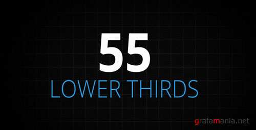 55 Lower Thirds - Project for After Effects (Videohive)