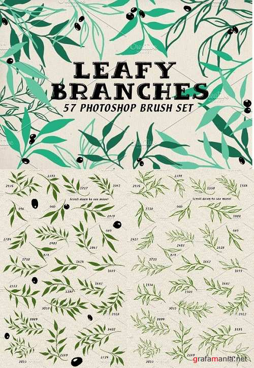 Leafy Branches Photoshop Brushes 1153739