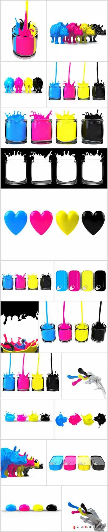 CMYK Paints, Style and Colors - 18xUHQ JPEG