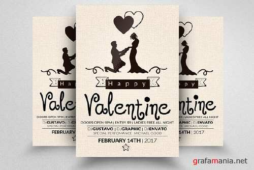 Valentines Party Flyer Templates 1168036
