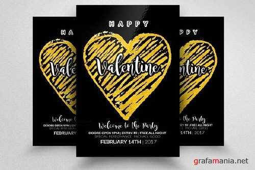 Valentines Party Flyer Templates - 1169318