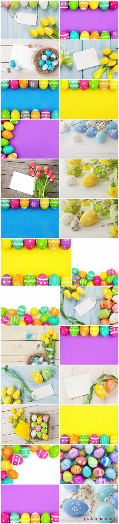 Easter Eggs and Happy Easter - Set of 26xUHQ JPEG Professional Stock Images