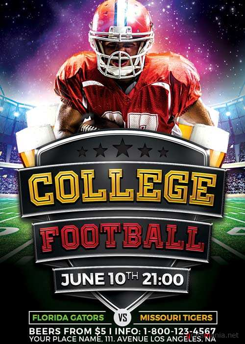 College Football Flyer V10 Template
