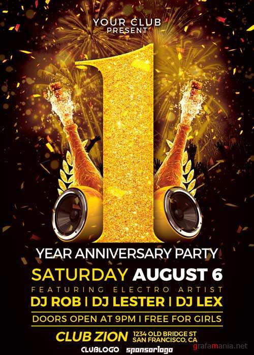 Anniversary Event V7 Flyer Template