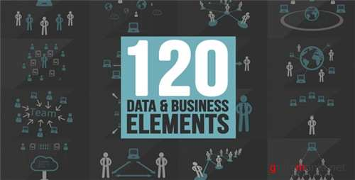 120 Element Icons People - After Effects Project (Videohive)