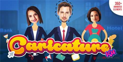 Caricature Toolkit | Face Cut Out | Explainer video toolkit - After Effects Project (Videohive)