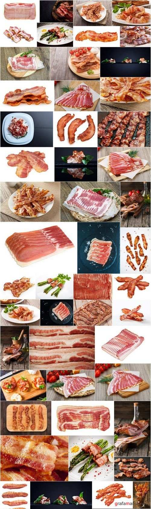 Tasty Bacon - Set of 53xUHQ JPEG Professional Stock Images