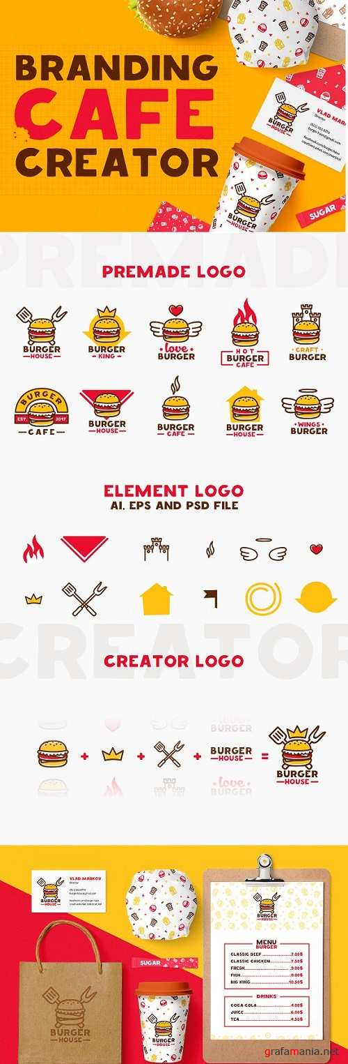 Creator branding / Cafe / Fast Food 1171896
