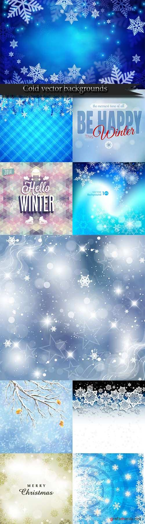 Cold vector backgrounds