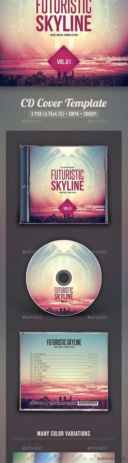 Futuristic Skyline CD Cover Artwork 16037661