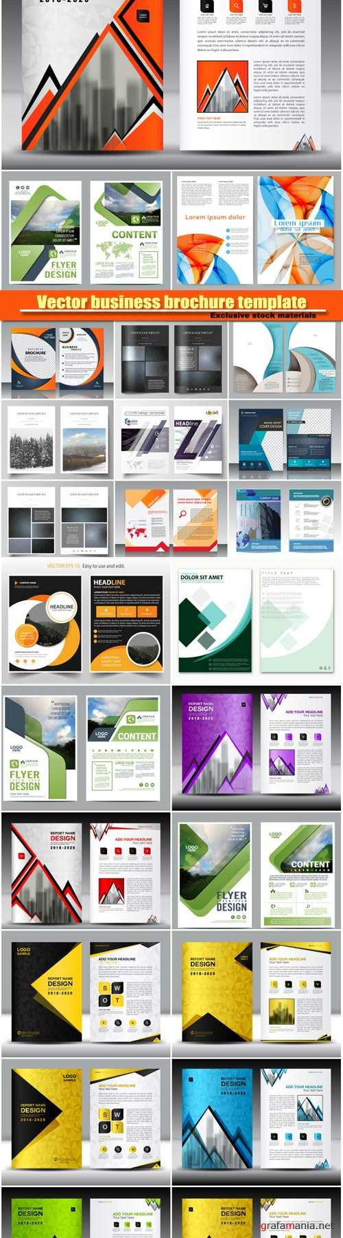 Vector business brochure template #11