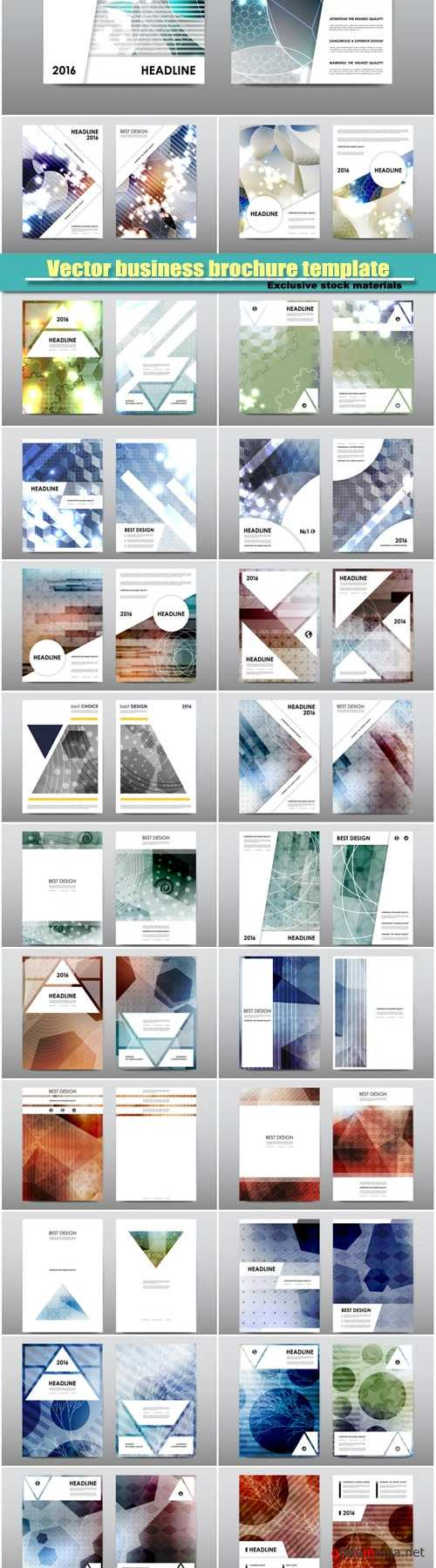 Abstract vector business brochure template