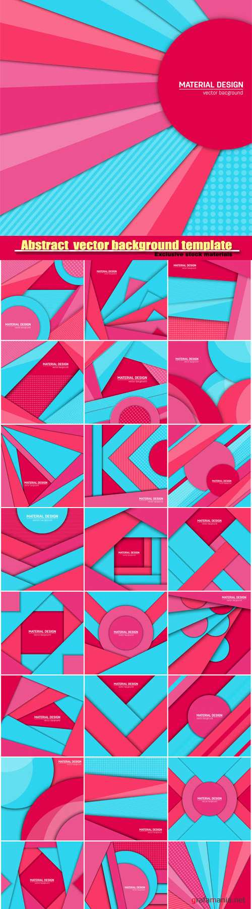 Abstract creative layout vector background template #5