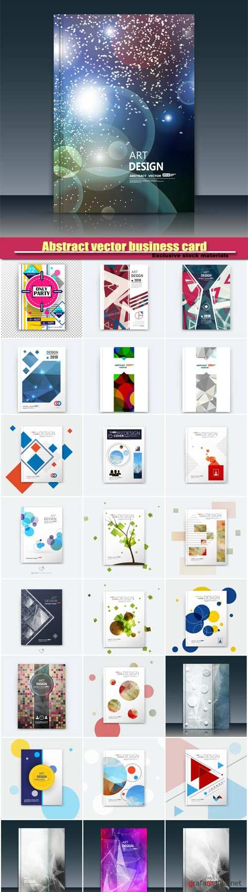 Abstract composition vector business card, brochure title sheet