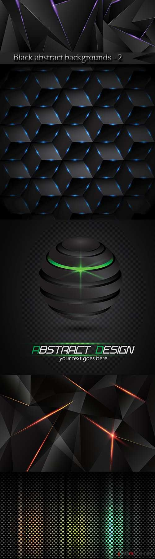 Black abstract vector backgrounds - 2