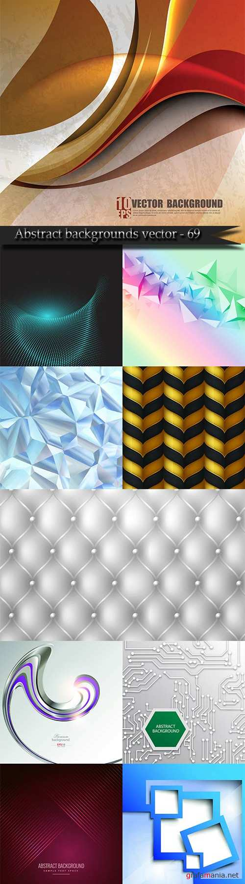 Bright colorful abstract backgrounds vector - 69