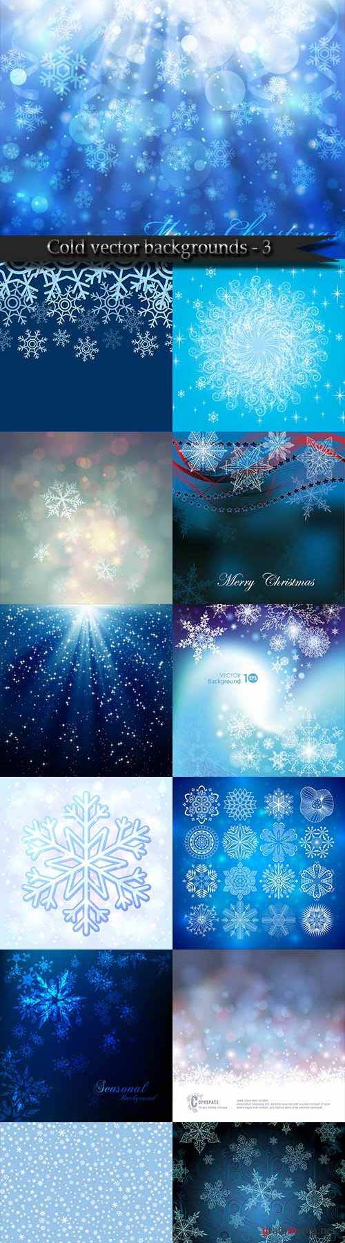 Cold vector backgrounds - 3