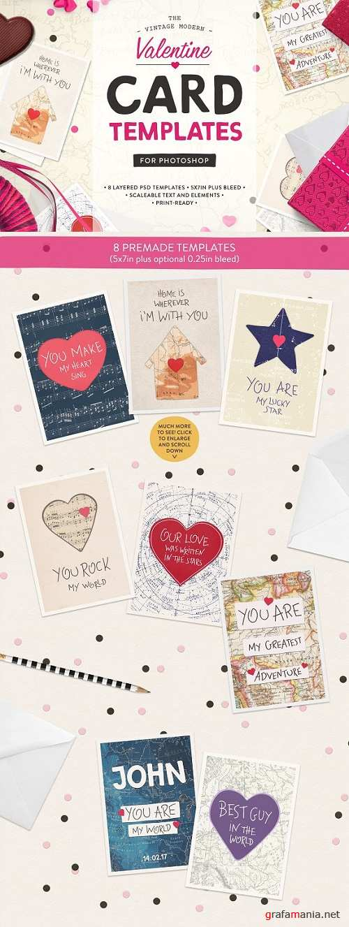 Valentine Card Templates (PS) - 1201907