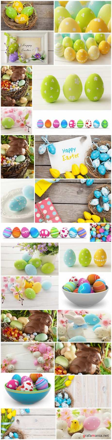 Easter Eggs and Happy Easter 2 - Set of 26xUHQ JPEG Professional Stock Images