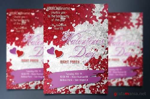 Valentine's Day Party - Invite card 1184355