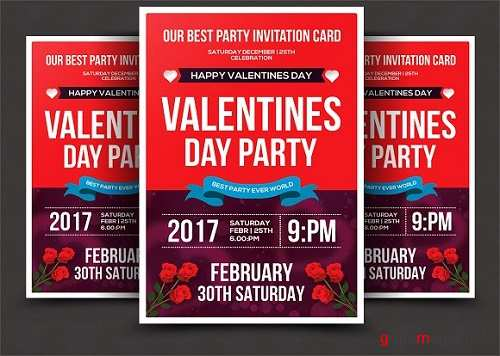 Valentines Day Psd Flyer Template - 1154666