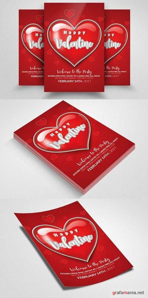 Valentines Party Flyer Templates - 1168371