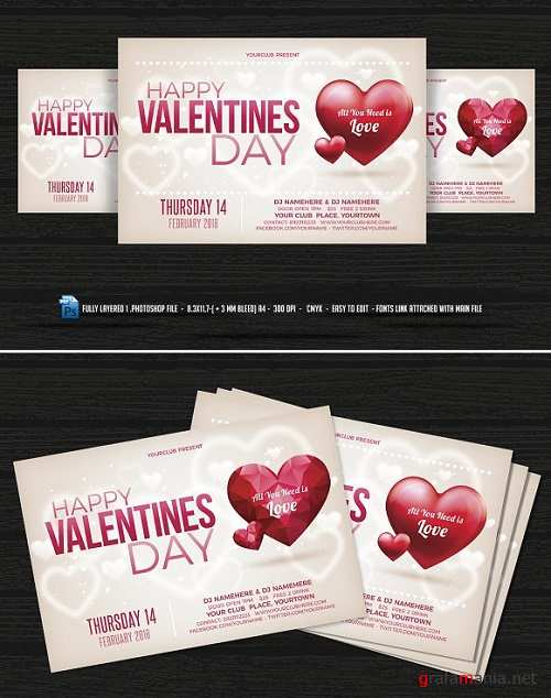Valentines Day Flyer - 1154814
