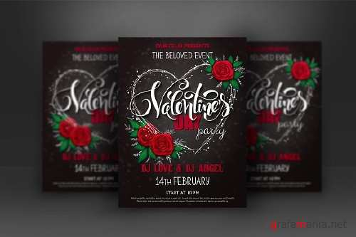 Valentine's day lettering poster - 1162187