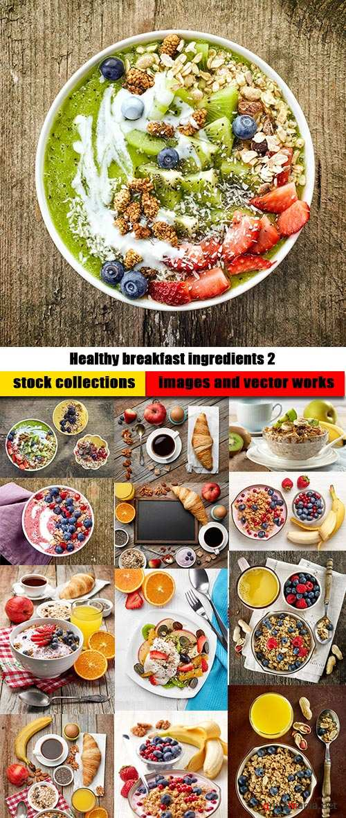 Healthy breakfast ingredients 2