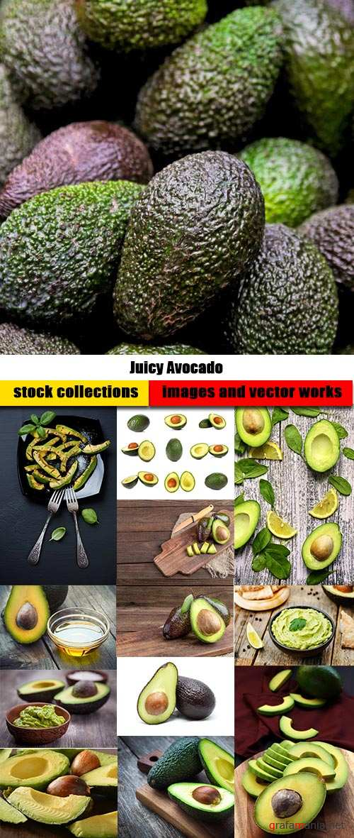 Juicy Avocado - 57xUHQ JPEG Professional Stock Images