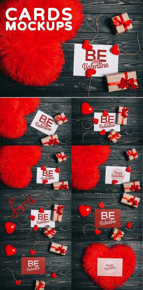 Valentine's Day Gift Cards Mock-ups - 1187868