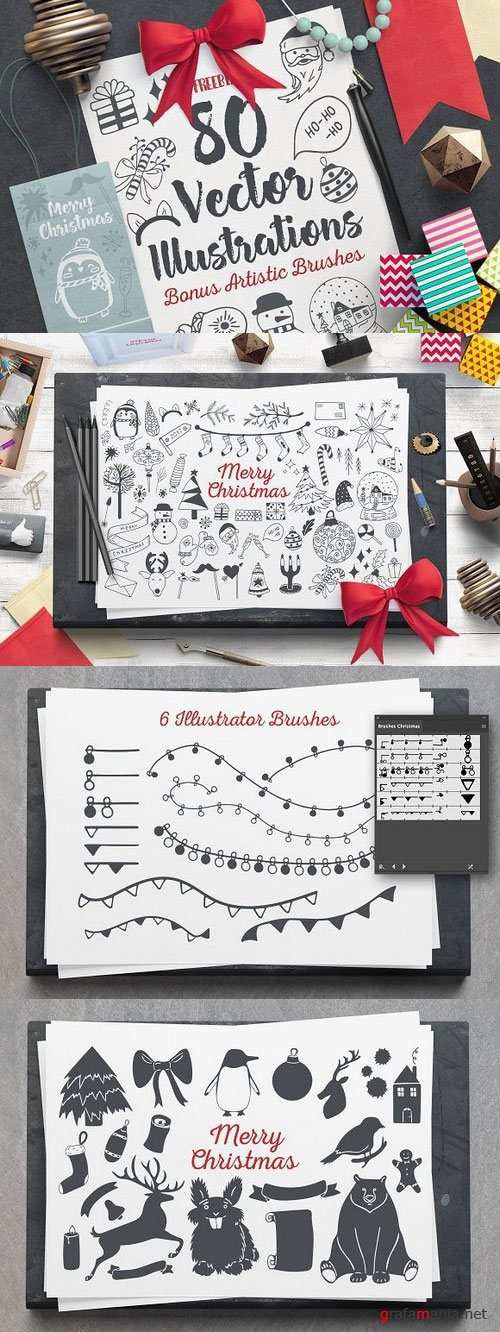 Cozy Christmas Vector Set 1106469