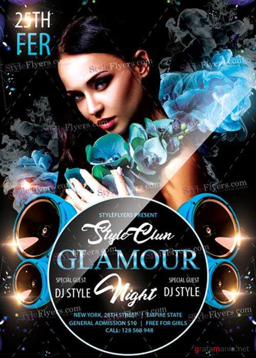Glamour Night V9 PSD Flyer Template