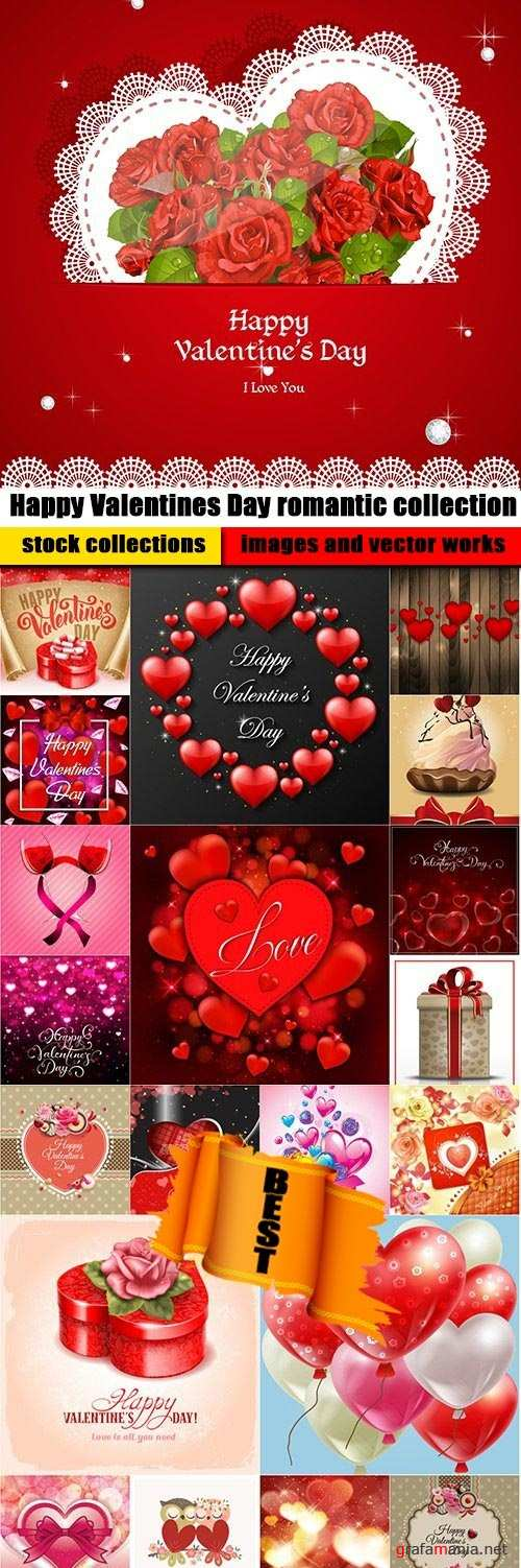 Happy Valentines Day romantic collection