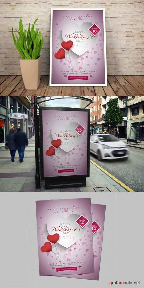 Valentines Day Flyer #01 - 1205973