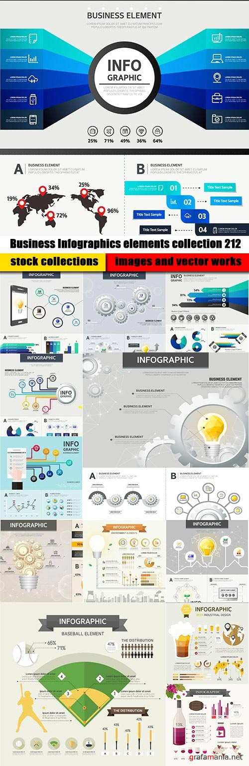 Business Infographics elements collection 212