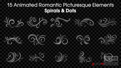 15 Animated Romantic Picturesque Elements Spirals and Dots - Motion Graphics (Videohive)