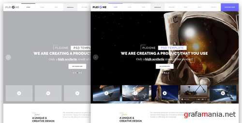 PLEIONE - Creative One Page Landing PSD Template 17624893