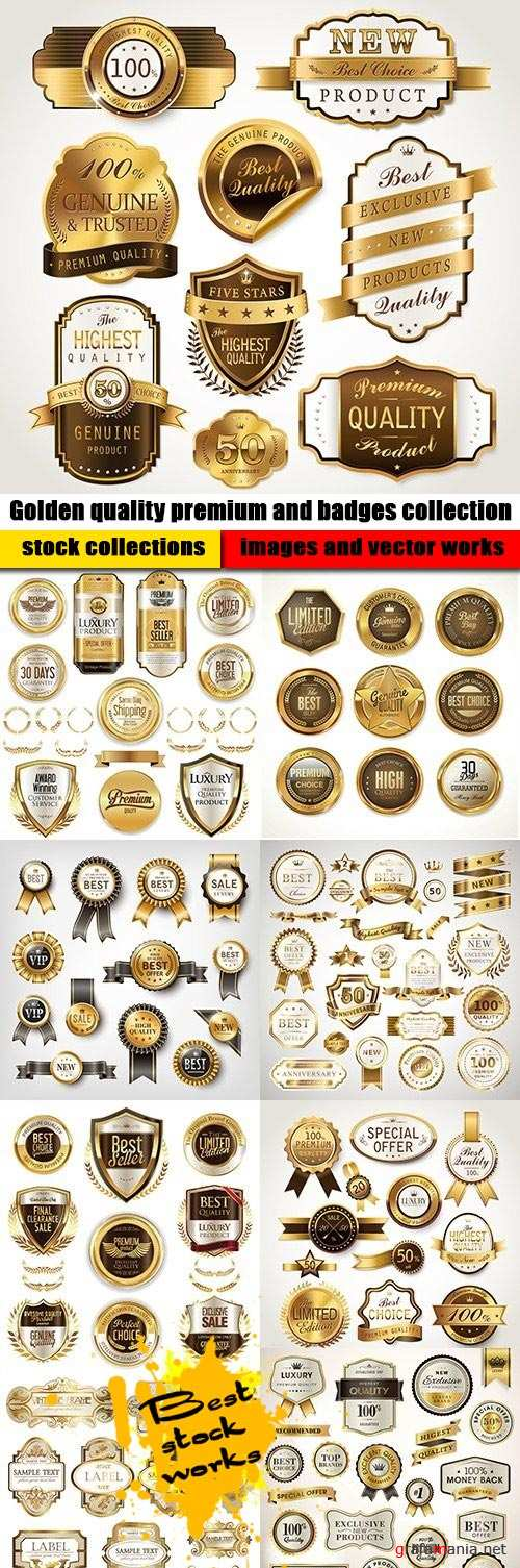 Golden quality premium and badges collection