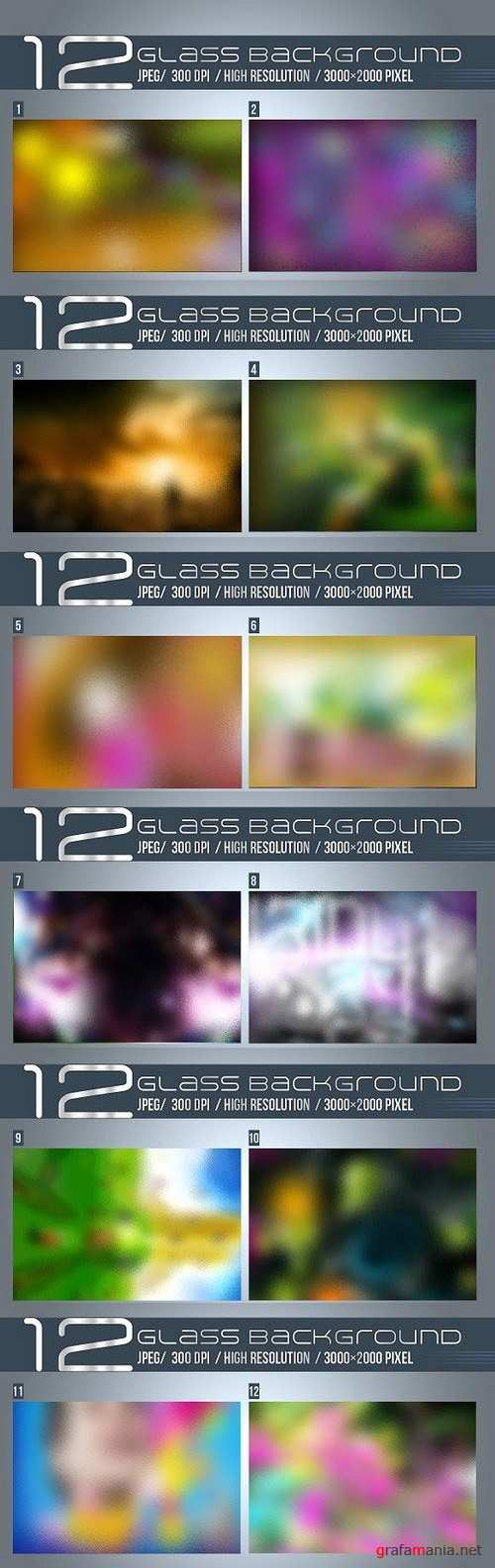 12 Glass Bagrounds 1126073