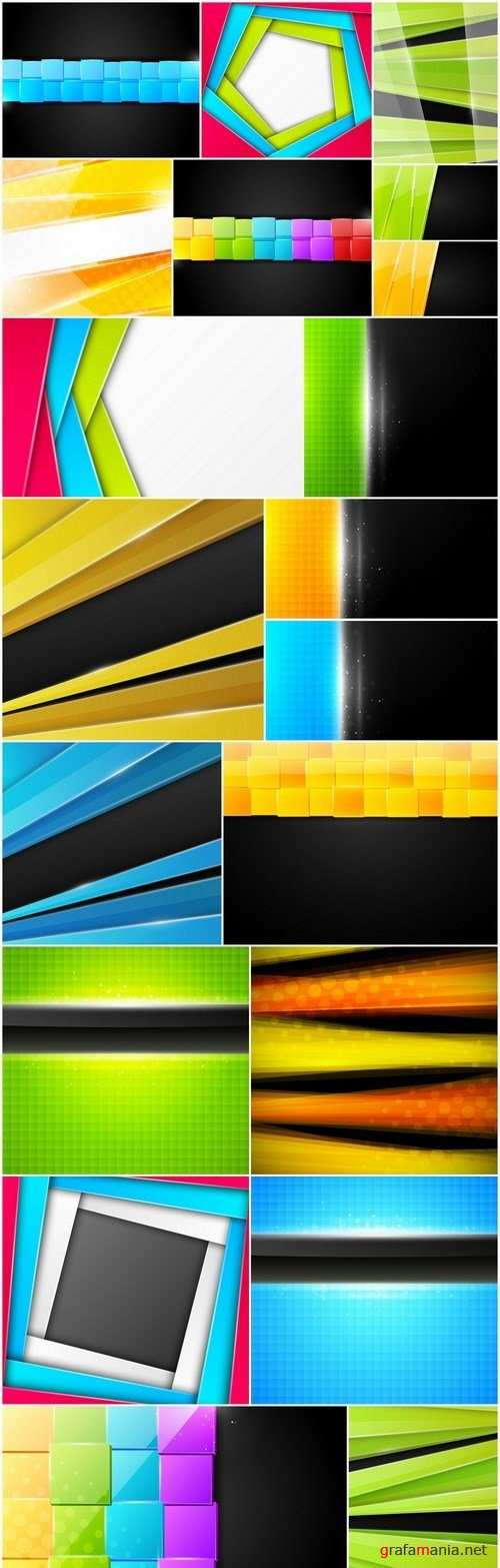 Amazing Abstract Backgrounds 30 - Set of 18xEPS Professional Vector Stock