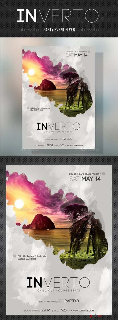 Inverto Music Party Flyer 18073953