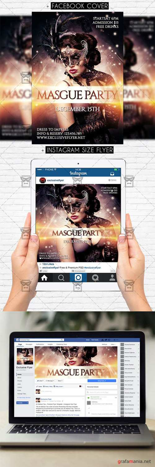 Flyer Template - Masque Party