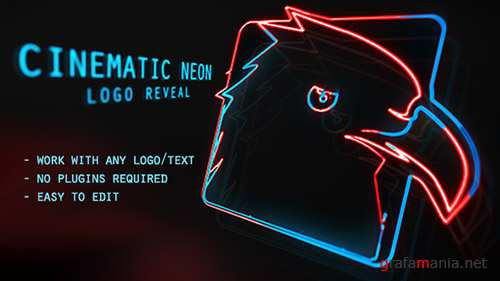Cinematic Neon Logo - Project for After Effects (Videohive)