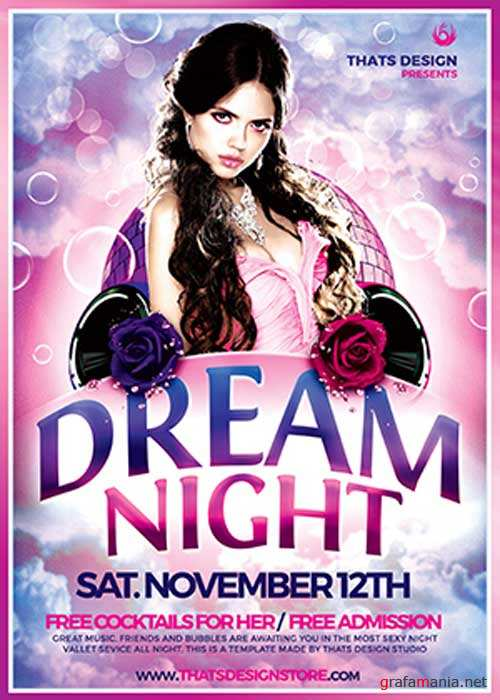 Dream Night V20 Flyer Template