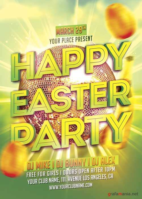 Happy Easter V20 Party Flyer Template