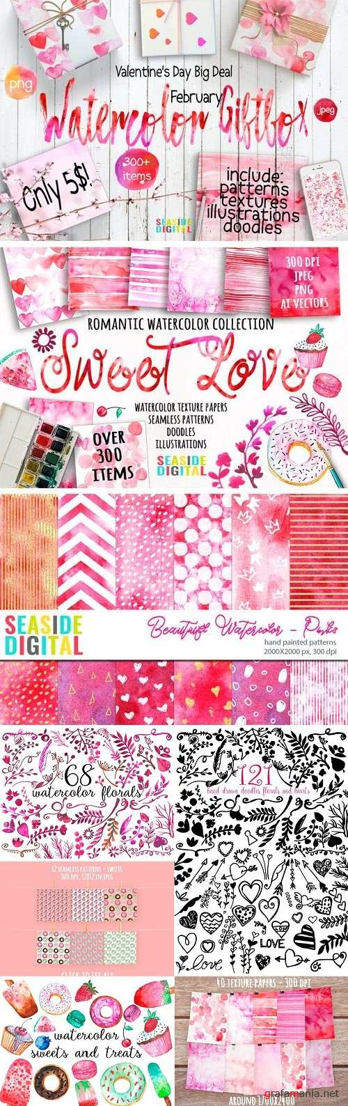 Watercolor Giftbox - February Deal - 1228782