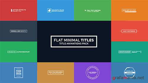 Flat Minimal Titles - Project for After Effects (Videohive)