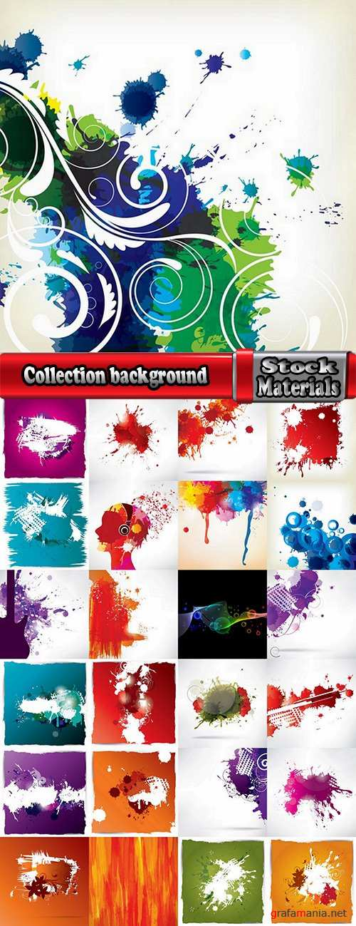 Collection background is a pattern frame abstract blob drop of spilled paint 25 EPS